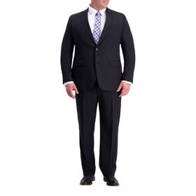 Big & Tall Travel Performance Heather Twill Suit Jacket, Black