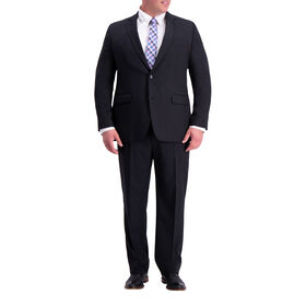 Big & Tall Travel Performane Heather Twill Suit Jacket, Black