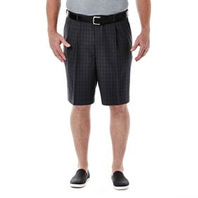 Big & Tall Cool 18®  Windowpane Short, Graphite