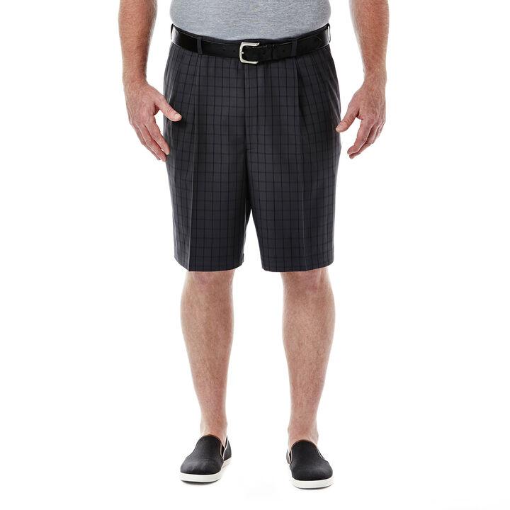 Big & Tall Cool 18®  Windowpane Short, Graphite