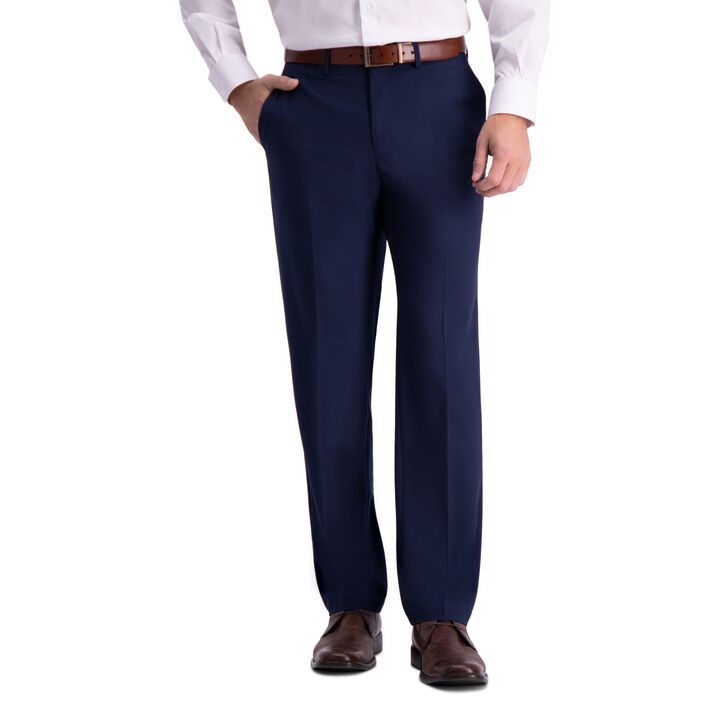 J.M. Haggar 4-Way Stretch Dress Pant, Blue