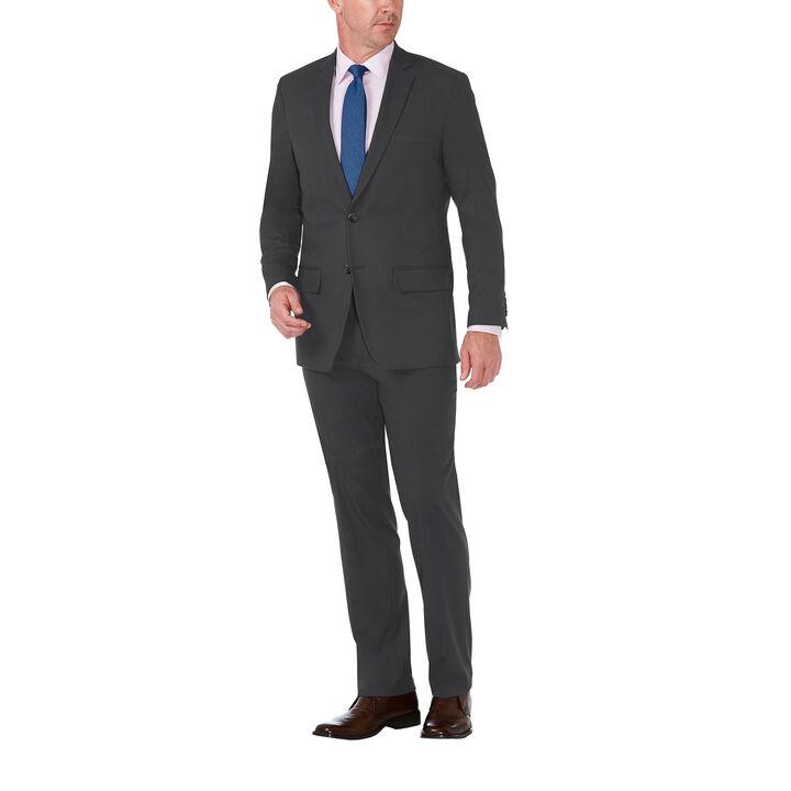J.M. Haggar Premium Stretch Shadow Check Suit Jacket,  Charcoal