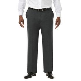 Big & Tall J.M. Haggar Premium Stretch Suit Pant - Flat Front, Medium Grey