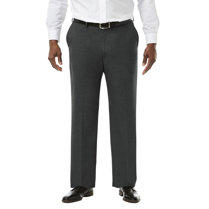 Big & Tall J.M. Haggar Premium Stretch Suit Pant - Flat Front, Medium Grey
