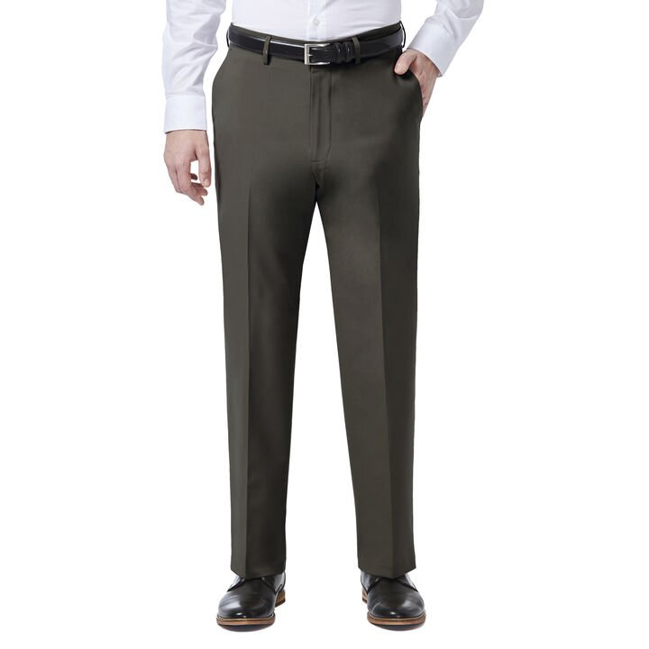 J.M. Haggar 4 Way Stretch Dress Pant, Black / Charcoal open image in new window