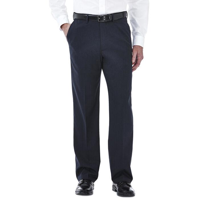 Premium Stretch Tic Weave Dress Pant, Navy