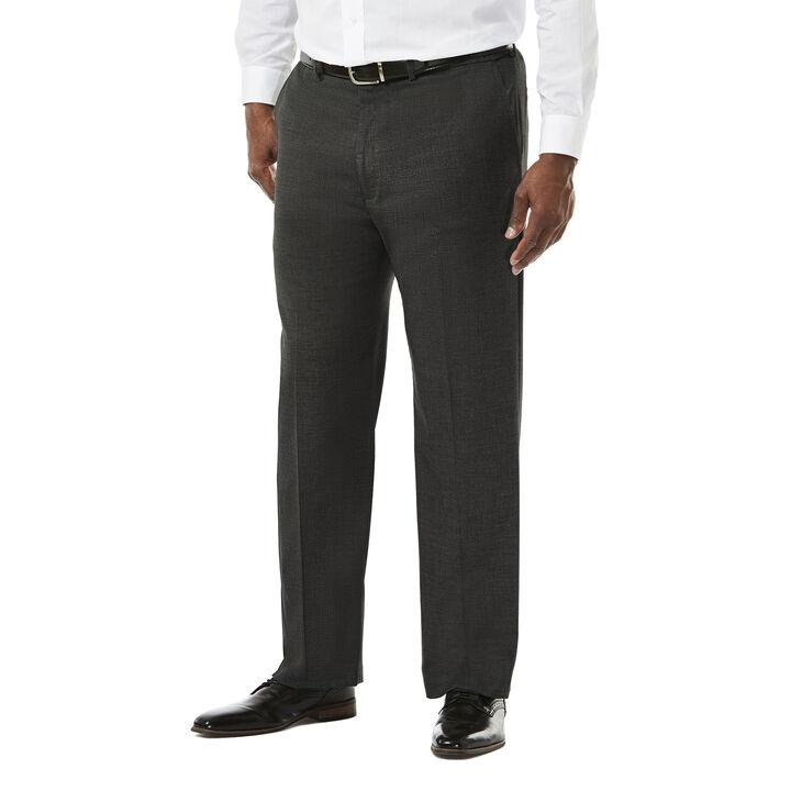 Big & Tall J.M. Haggar Premium Stretch Suit Pant - Flat Front, Dark Heather Grey open image in new window