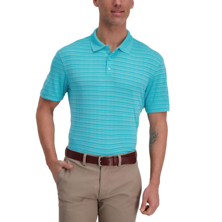 Cool 18® Pro Striped Golf Polo, Waterfall