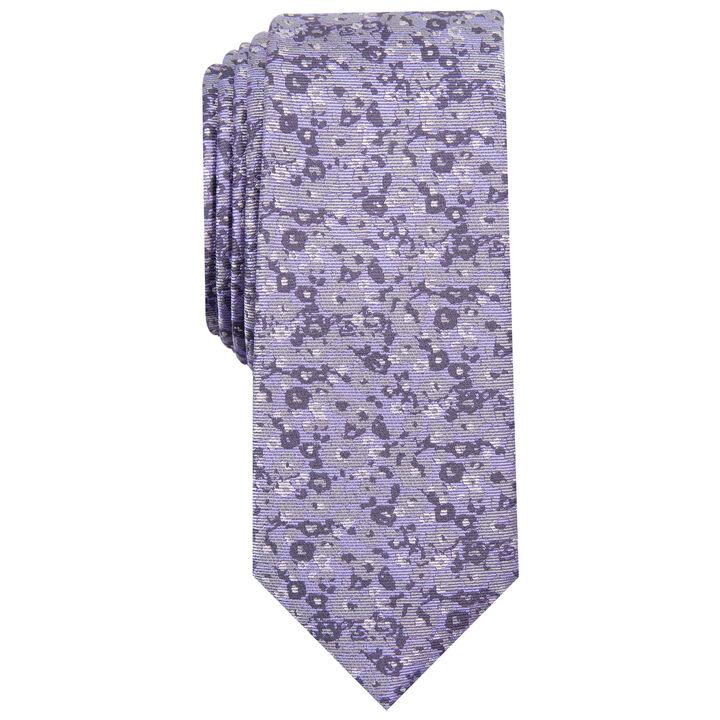 Floral Tie, Purple
