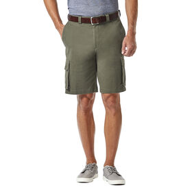 Stretch Cargo Short with Tech Pocket, Taupe