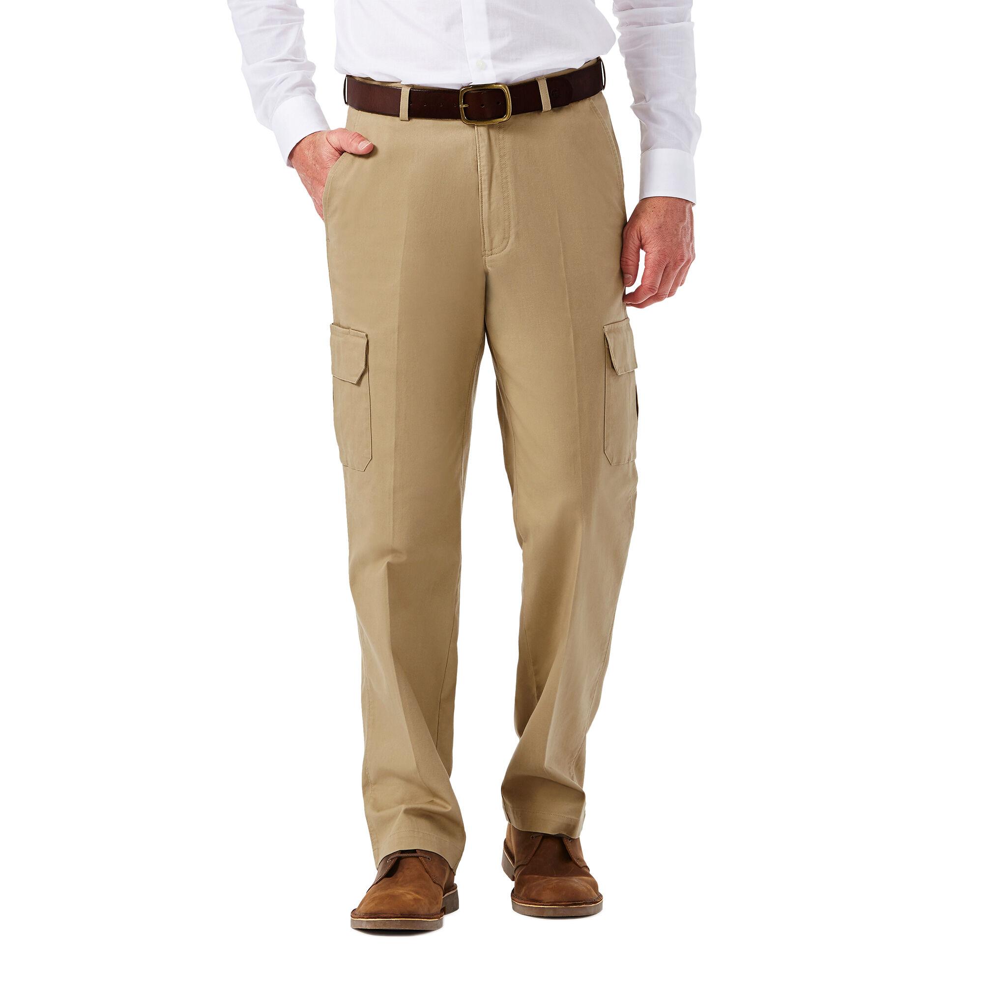 77e7c351 Stretch Comfort Cargo Pant | Classic Fit, Flat Front | Haggar.com