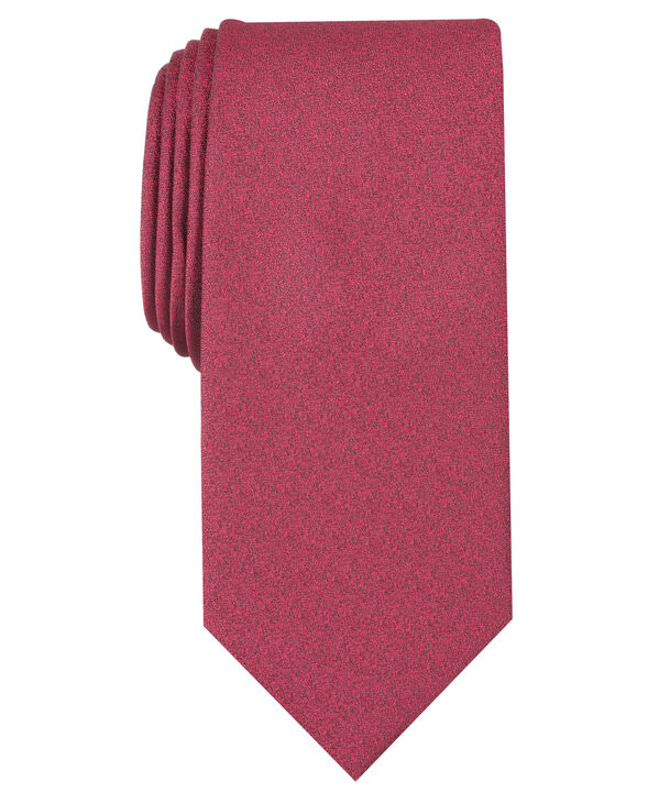 Carbon Solid Tie, Red