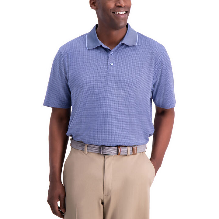 Cool 18® Houndstooth Polo, Denim Blue open image in new window