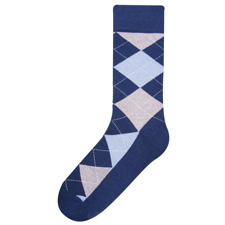 Basic Argyle Socks, Navy