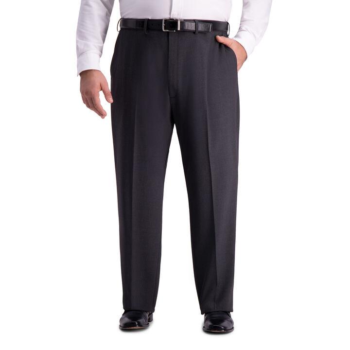 Big & Tall J.M. Haggar 4-Way Stretch Suit Pant, Charcoal Heather