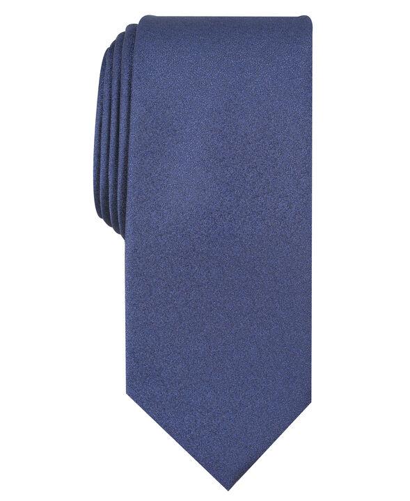 Carbon Solid Tie, Navy