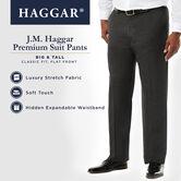 Big & Tall J.M. Haggar Premium Stretch Suit Pant - Flat Front, Dark Navy 5