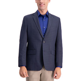Check Sport Coat, Navy