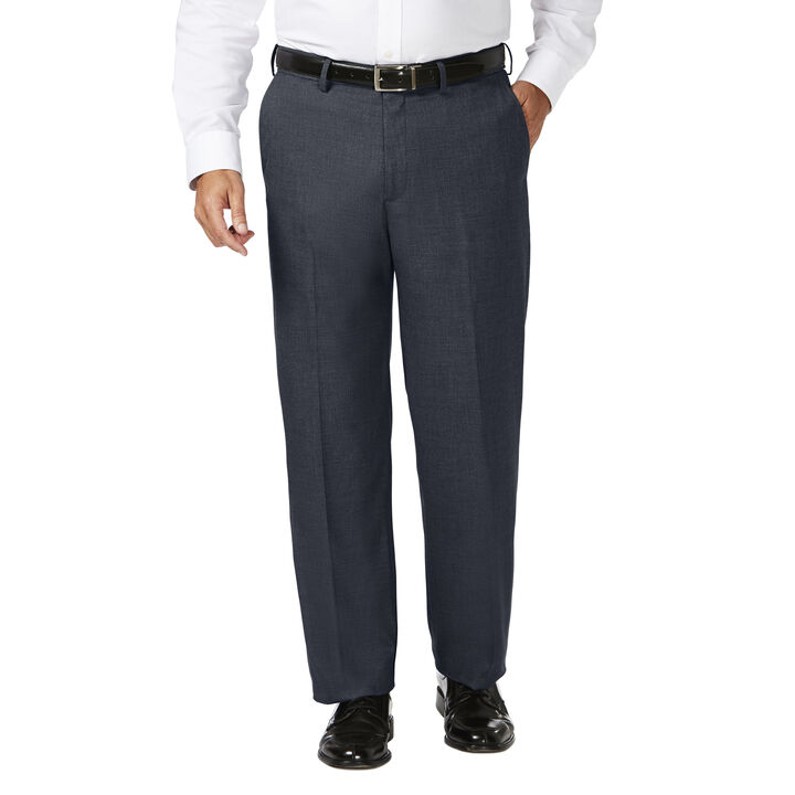 Big & Tall J.M. Haggar Dress Pant - Sharkskin, Dark Navy open image in new window