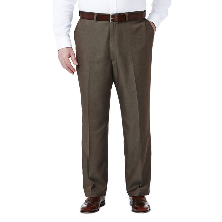 Big & Tall Cool 18® Heather Solid Pant, Heather Brown open image in new window
