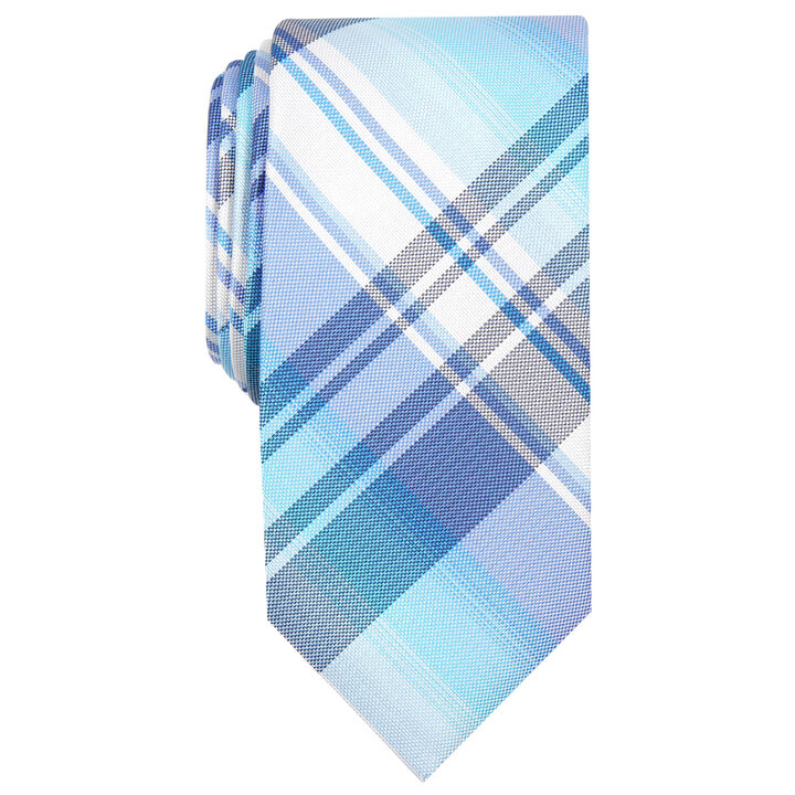 Ementh Plaid Tie, Mint