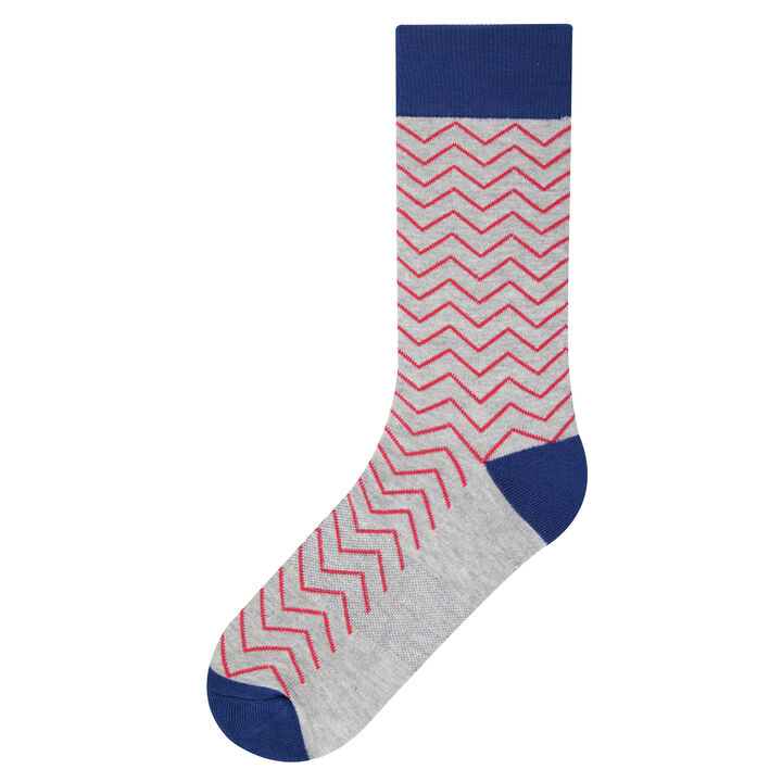 Chevron Socks, Graphite