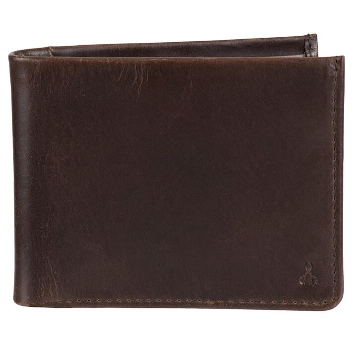 RFID Extra Capacity Slimfold Wallet - Best Dad Ever Emboss, Brown open image in new window