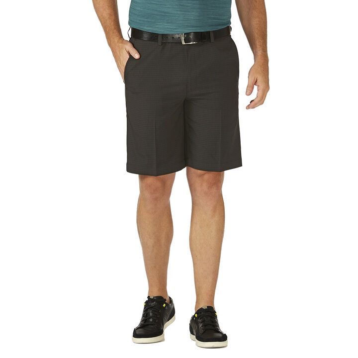 Cool 18® Pro Check Short, Dark Grey