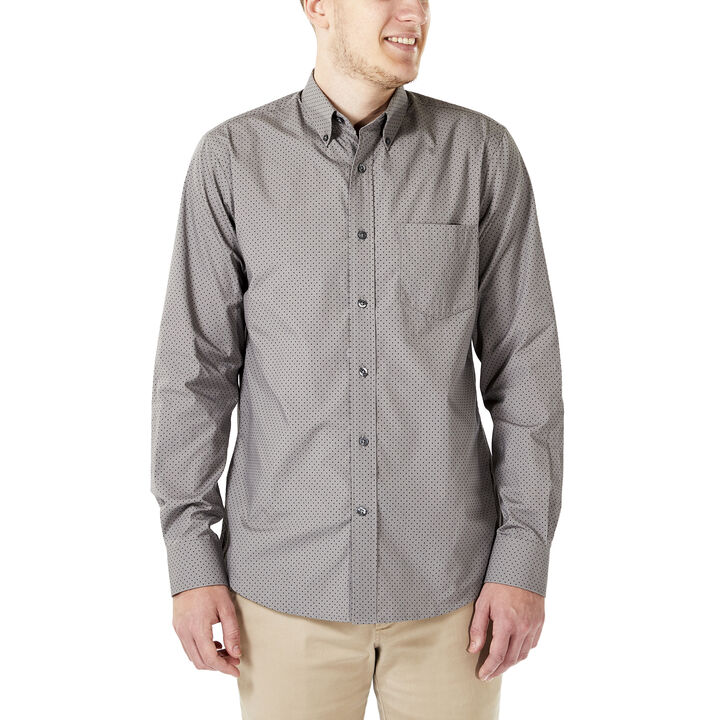 Dot Button Down Shirt, Taupe