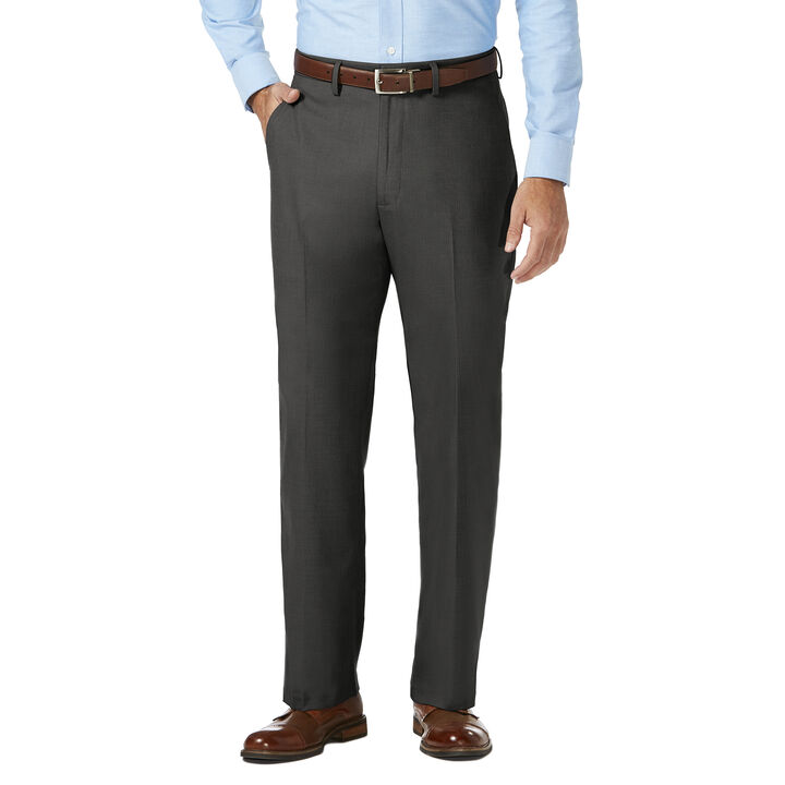 J.M. Haggar Dress Pant - Sharkskin, Dark Heather Grey