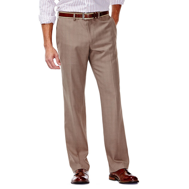 E-CLO™ Stretch Slack - Heathered Plaid, Medium Taupe
