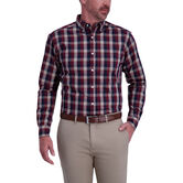 Gingham Woven Shirt, Navy 1