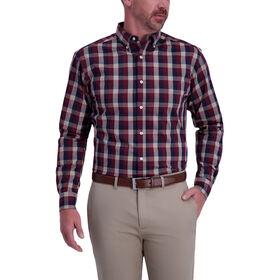 Gingham Woven Shirt, Navy