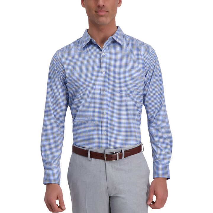 The Active Series™ Multicolored Plaid Casual Shirt, Grey