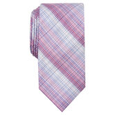 Warner Plaid Tie, Navy 2