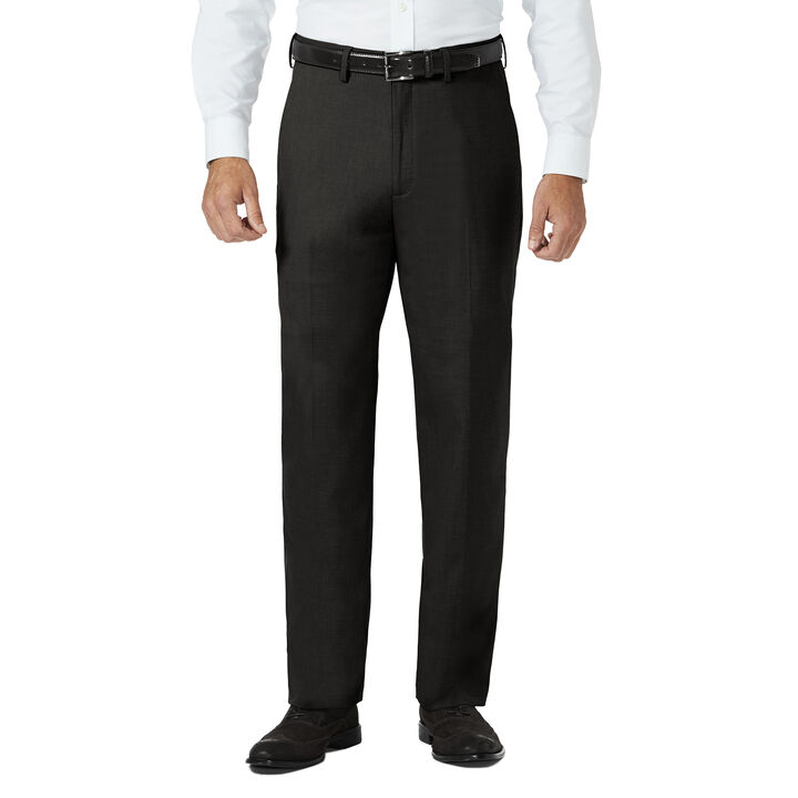 J.M. Haggar Dress Pant - Sharkskin, Medium Brown