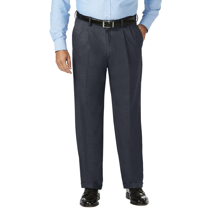 Big & Tall J.M. Haggar Dress Pant - Sharkskin, Dark Navy