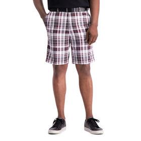Cool 18® Pro Madras Plaid Short, Red