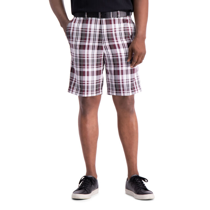 Cool 18® Pro Madras Plaid Short, Red open image in new window