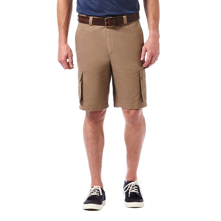 Canvas Cargo Short, British Khaki open image in new window