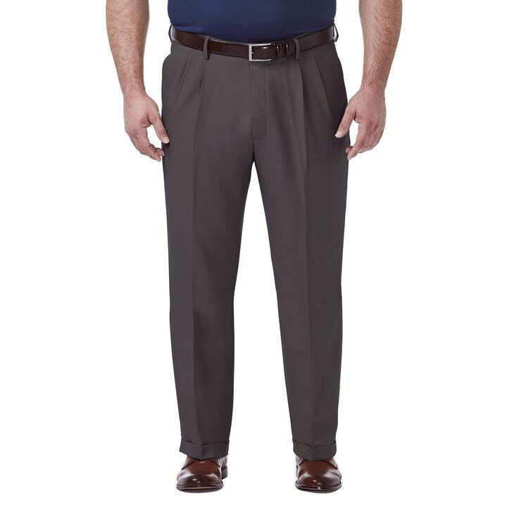Big & Tall Premium Comfort Dress Pant, Black / Charcoal