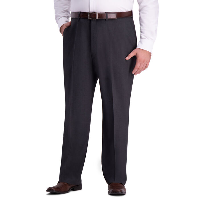 Big & Tall J.M. Haggar 4-Way Stretch Dress Pant, Charcoal Heather
