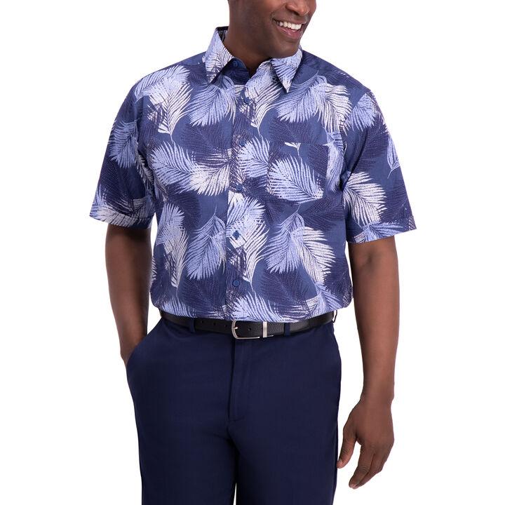 Palm Button Down Shirt, DARK BLUE