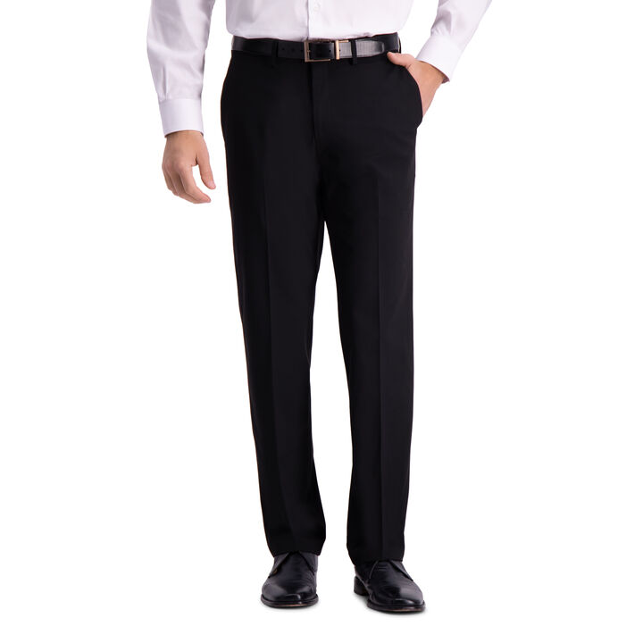 J.M. Haggar 4-Way Stretch Dress Pant, Black open image in new window