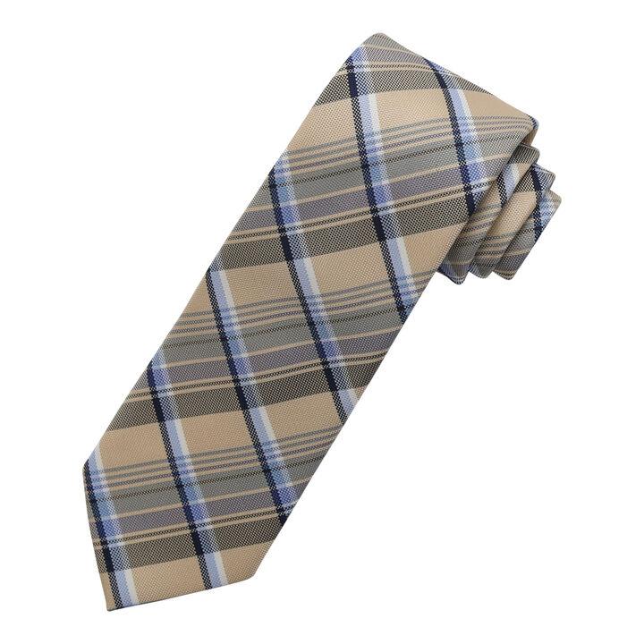 Overplaid Tie, Khaki