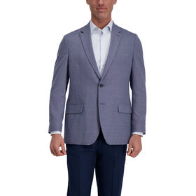 J.M. Haggar Birdseye Windowpane Sport Coat, Medium Blue