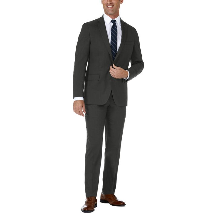 J.M. Haggar Premium Stretch Suit Jacket, Dark Heather Grey, hi-res