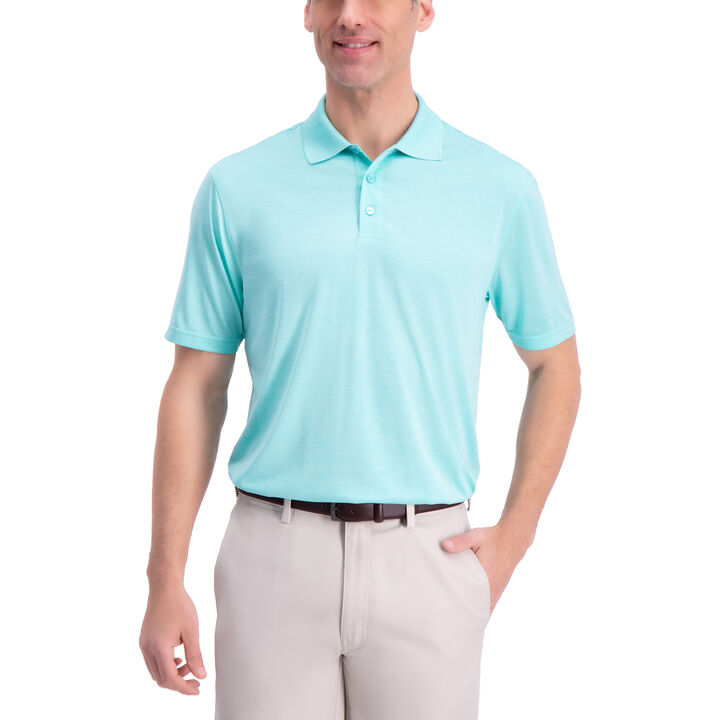 Solid Marl Golf Polo, Blue