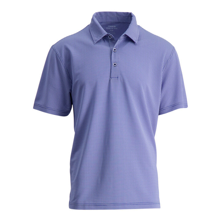 Small Gingham Polo, Blue Tattoo