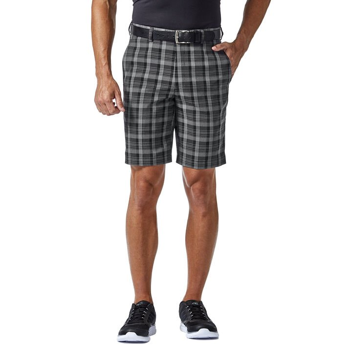 Cool 18® Pro Pinstripe Plaid Short, Black